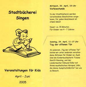 Stadtbücherei Singen April - Juni 2005